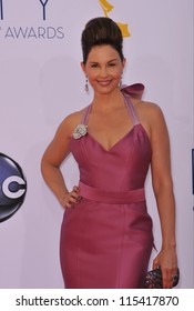 LOS ANGELES, CA - SEPTEMBER 23, 2012: Ashley Judd at the 64th Primetime Emmy Awards at the Nokia Theatre LA Live.
