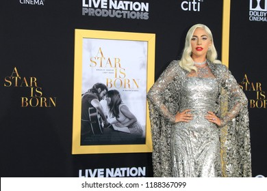 LOS ANGELES, CA - SEPTEMBER 24: Lady Gaga attends the premiere of Warner Bros. Pictures' 'A Star Is Born' at The Shrine Auditorium on September 24, 2018 in Los Angeles, California