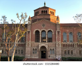 Los Angeles, CA: September 24, 2019:   Powell Library on the University of California, Los Angeles (UCLA) campus. UCLA is a public university in the Los Angeles area.