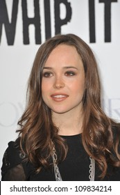 """LOS ANGELES, CA - SEPTEMBER 29, 2009: Ellen Page at the Los Angeles premiere of her new movie """"Whip It"""" at Grauman's Chinese Theatre, Hollywood."""