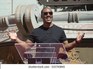 LOS ANGELES, CA. September 29, 2016: Eddie Murphy at the hand & footprint ceremony honoring Dreamworks co-founder Jeffrey Katzenberg at the TCL Chinese Theatre, Hollywood.