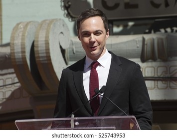 LOS ANGELES, CA. September 29, 2016: Jim Parsons at the hand & footprint ceremony honoring Dreamworks co-founder Jeffrey Katzenberg at the TCL Chinese Theatre, Hollywood.