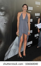 """LOS ANGELES, CA - SEPTEMBER 6, 2011: Monique Ganderton at the world premiere of """"Warrior"""" at the Arclight Theatre, Hollywood. September 6, 2011  Los Angeles, CA"""