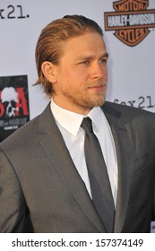 """LOS ANGELES, CA - SEPTEMBER 7, 2013: Charlie Hunnam at the season 6 premiere of """"Sons of Anarchy"""" at the Dolby Theatre, Hollywood."""