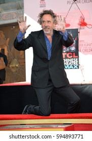 LOS ANGELES, CA. September 8, 2016: Director Tim Burton at the TCL Chinese Theatre, Hollywood, where he had his hand and footprints set in cement in the forecourt of the theatre.
