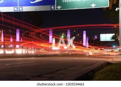 Los Angeles  CA/ USA 04/08/2018  Long exposure near LAX airport Los Angeles California