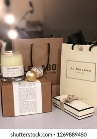 Los Angeles, CA / USA - 11/28/18: Jo Malone and Le Labo from Nordstrom in gift packaging