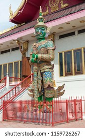 Los Angeles, CA, USA - 9th of July 2018:Statue in Wat Thai of Los Angeles. It is the largest Thai Buddhist Temple in Los Angeles. Situated in the Sun Valley.
