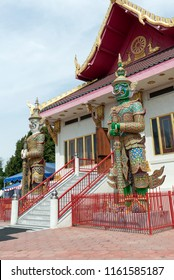 Los Angeles, CA, USA - 9th of July 2018: Wat Thai of Los Angeles is the largest Thai Buddhist Temple in Los Angeles. Situated in the Sun Valley, about 15 miles north from Downtown Los Angeles