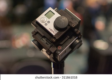 Los Angeles, CA - USA - August 29, 2015: 360-Degree Virtual Reality Camera System during VRLA Expo, virtual reality exposition, event at the Los Angeles Convention Center in Los Angeles.