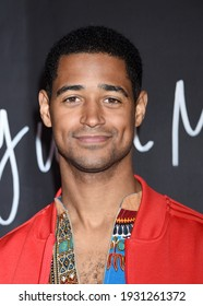 LOS ANGELES, CA USA - FEB 8 2020:  Alfred Enoch arrives to the 'How To Get Away With Murder' Series Finale Party on February 8, 2020 in Los Angeles, CA