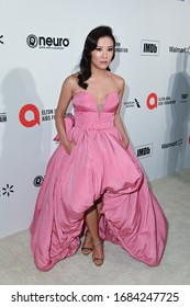 LOS ANGELES, CA / USA - FEBRUARY 09, 2020: Ally Maki walks the red carpet at the Elton John AIDS Foundation Party on February 09, 2020 in Los Angeles, California.