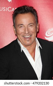 Los Angeles, CA, USA; February 2, 2013; Bruce Springsteen arrives to the MusiCares 2013 Person Of The Year Tribute in Los Angeles, California.