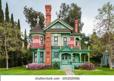 Los Angeles, CA, USA - Hale House in Los Angeles, California, USA. It is a Queen Anne style Victorian mansion built in 1887 in the Highland Park section of northeast Los Angeles, California.