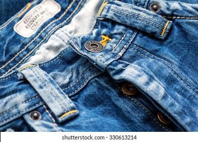 Los Angeles, CA, USA - January 10, 2015: Close-up of Pepe Jeans