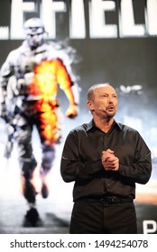Los Angeles, CA/ USA - June 4, 2012: Electronic Arts COO Peter Moore speaks about 'Battlefield 3' during the 2012 Electronic Arts EA E3 press conference at the Orpheum Theater.