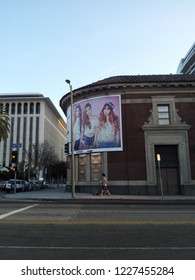 Los Angeles, CA / USA - March 21 2015: A billboard advertising a female K-Pop group in LA.