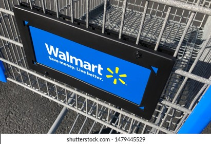 Los Angeles, CA / USA - March 30 2019: Walmart Inc. is an American multinational retail corporation that operates a chain of hypermarkets, discount department stores, and grocery stores.