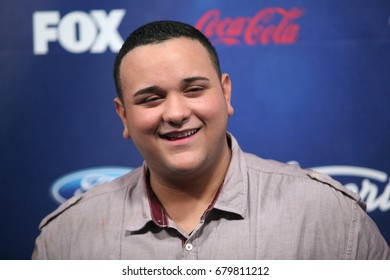 Los Angeles, CA, USA; March 01, 2012; Jeremy Rosado arrives to the American Idol Finalist Party.