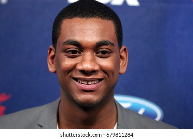 Los Angeles, CA, USA; March 01, 2012;  Joshua Ledet arrives to the American Idol Finalist Party.