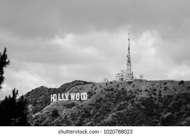 Los Angeles, CA / USA - May 18 2011: Hollywood sign seen from Griffith Observatory