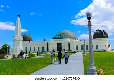 Los Angeles, CA / USA - May 18 2011: Griffith Observatory in a sunny day