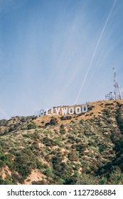 Los Angeles, CA, USA, May 2018: Hollywood sign in the hills. Editorial only.