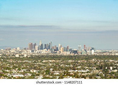 Los Angeles, CA, USA - May 26th, 2018:  view to skyscrapers located in Los Angeles.