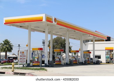 Los Angeles, CA, USA - May 13, 2016: Royal Dutch Shell Plc or Shell is an Anglo-Dutch multinational oil and gas company. It is the fourth largest company in the world as of 2014, in term of revenue.