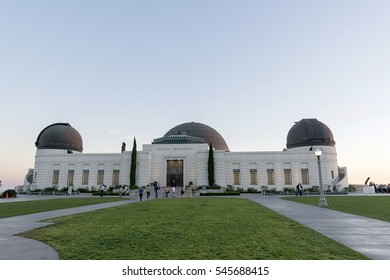 Los Angeles, CA, USA - November 08, 2016: Griffith Observatory in Los Angeles. It is a facility  sitting on the south-facing slope of Mount Hollywood in Los Angeles' Griffith Park.