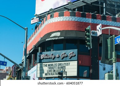 Los Angeles, CA, USA - November 02, 2016: Whisky a Go Go in Sunset Boulevard