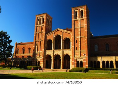 Los Angeles, CA, USA September 23, 2008 Royce Hall occupies a prominent spot on the campus of UCLA in Los Angeles California.  The historic building serves as the live performing arts center.