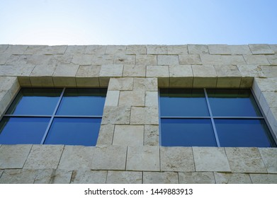 Los Angeles, California – 09/08/2013:  Exterior of the Getty Center Museum in Los Angeles, California, United States