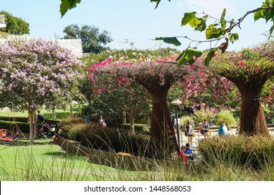 Los Angeles, California - 09/08/2013: Garden at Getty Center, Los Angeles, California, United States