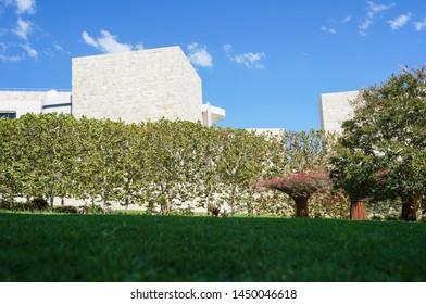 Los Angeles, California – 09/08/2013:  Garden at Getty Center, Los Angeles, California, United States