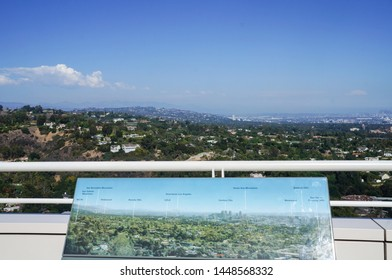 Los Angeles, California - 09/08/2013: View of Los Angeles city at Getty Center, California, United States