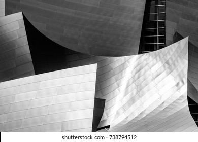 los angeles, california. 1st September, 2017: View of Walt Disney Concert hall was design by architect Frank Gehry.