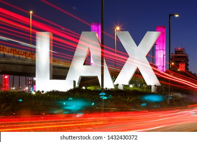 Los Angeles, California – April 12, 2019: Los Angeles airport (LAX) sign in the United States.