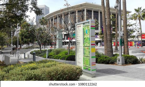 LOS ANGELES, California – April 28, 2018: Grand Park located in the Civic Center of Los Angeles