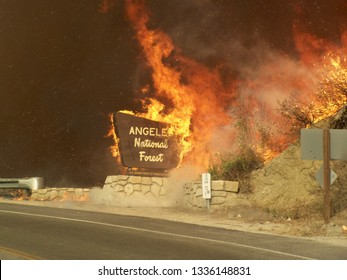 Los Angeles, California / Los Angeles County - August 31 2009: Station Fire was the largest wildfire of the 2009 California wildfire season.