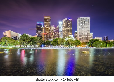 Los Angeles, California downtown skyline.