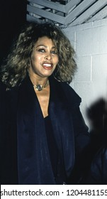 Los Angeles, California - exact date unknown - circa 1991: Singer Tina Turner arriving at a restaurant