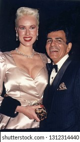 Los Angeles, California - exact date unknown - circa 1991: the late Casey Kasem and wife Jean arriving at a formal celebrity event