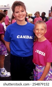 Los Angeles, California - exact date unknown - circa 1990 - a young Candace Cameron Bure and Jodie Sweetin from Full House