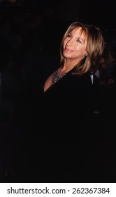 LOS ANGELES, CALIFORNIA - exact date unknown - circa 1990 - Barbra Streisand arriving at a formal celebrity event