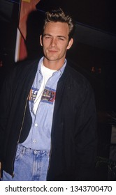 Los Angeles, California - March 12, 1991: late actor Luke Perry leaving a restaurant