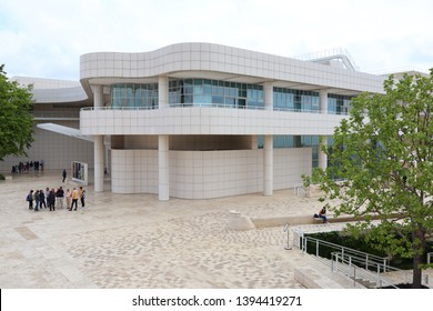 Los Angeles, California – May 10, 2019: view of The Getty Center Museum in Los Angeles