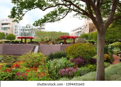 Los Angeles, California – May 10, 2019: view of the Garden of The Getty Center Museum in Los Angeles