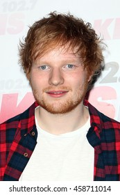 Los Angeles, California; May 10, 2014; Ed Sheeran arrives to 102.7 KIIS FM's 2014 Wango Tango in Los Angeles, California.