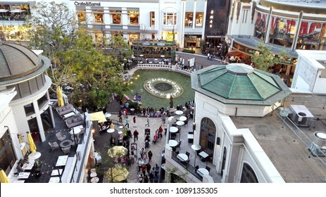 LOS ANGELES, California - May 11, 2018: The Grove at Farmers Market, retail and entertainment complex in Los Angeles